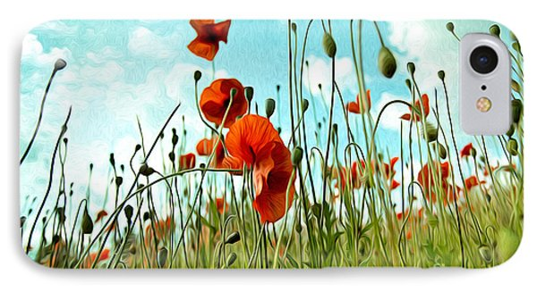 Red Poppy Flowers 03 IPhone Case