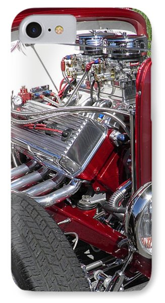 Red Roadster Hot Rod Fine Art Photo Phone Case by Sven Migot