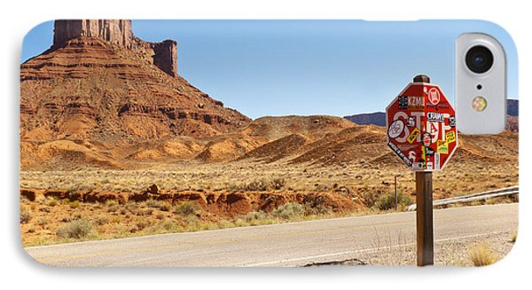 Red Rock Stop Phone Case by Bob and Nancy Kendrick