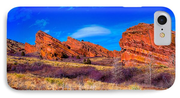 Red Rocks Park Colorado Phone Case by David Patterson