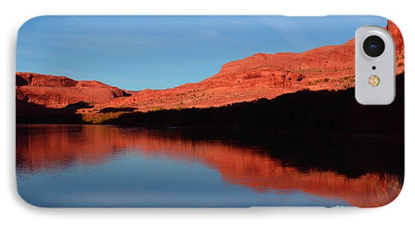 Red Rocks Reflected In The Colorado River IPhone Case by Tara Turner