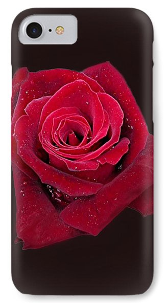 Red Rose II Phone Case by Jim Ziemer