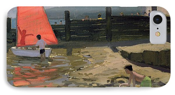 Red Sail Isle Of Wight IPhone Case by Andrew Macara