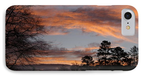 IPhone Case featuring the photograph Red Sky At Dawn by Jean Haynes