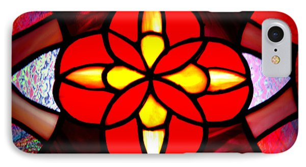 Red Stained Glass Phone Case by LeeAnn McLaneGoetz McLaneGoetzStudioLLCcom