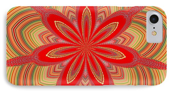 Red Star Brocade IPhone Case by Alec Drake