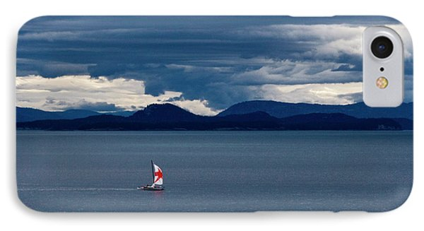 IPhone Case featuring the photograph Red Star Sail by Lorraine Devon Wilke