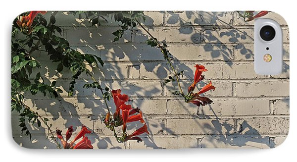 IPhone Case featuring the photograph Red Summer Trumpets by Deborah Smith