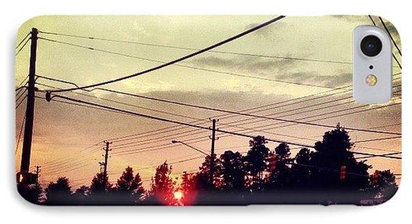 #red #sun IPhone Case