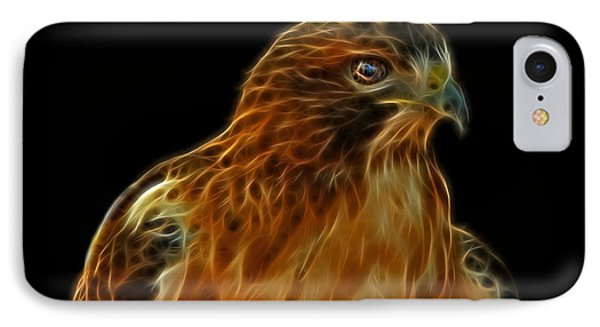 Red-tailed Hawk IPhone Case by Sandy Keeton