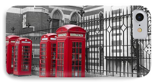 Red Telephone Boxes IPhone Case by David French