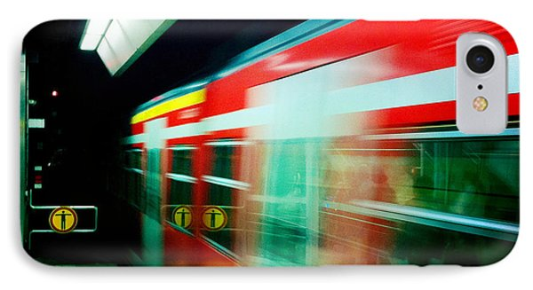 Red Train Blurred IPhone Case