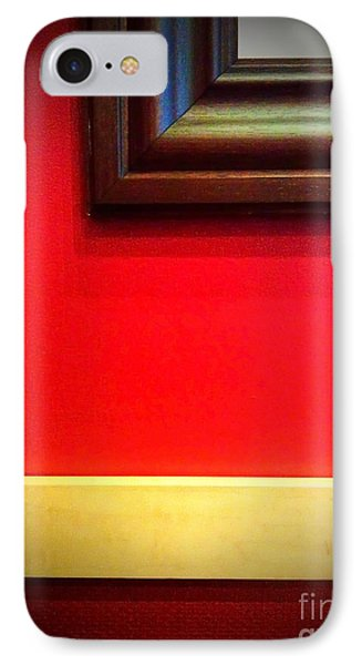 Red Wall IPhone Case by Eena Bo