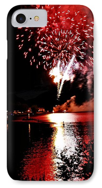 Red Water City Phone Case by Don Mann