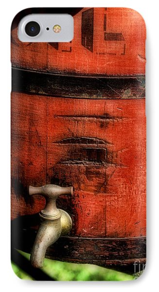 Red Weathered Wooden Bucket Phone Case by Paul Ward