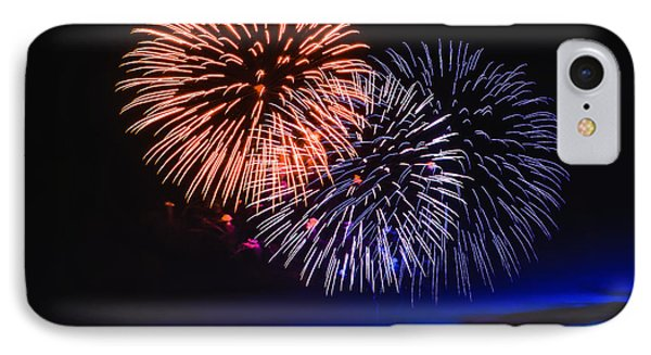 Red White And Blue IPhone Case by Robert Bales