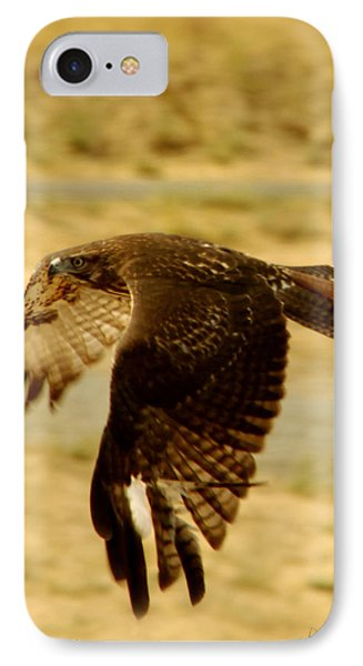Redtail Flight IPhone Case by Donna Blackhall