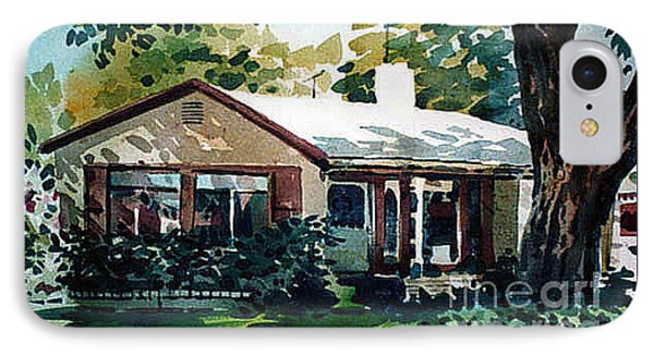 IPhone Case featuring the painting Redwood City House #1 by Donald Maier