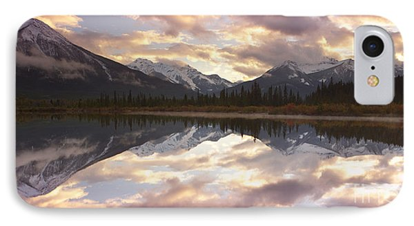 Reflecting Mountains IPhone Case by Keith Kapple