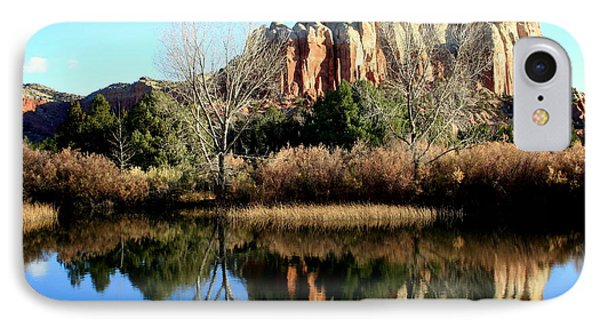 IPhone Case featuring the photograph Reflection At Ghost Ranch by Laurel Talabere