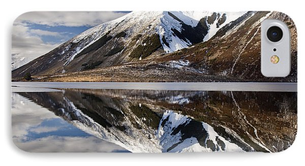 Reflection In Lake Pearson, Castle Hill Phone Case by Colin Monteath