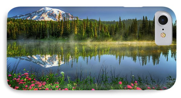 Reflection Lakes IPhone Case by William Lee