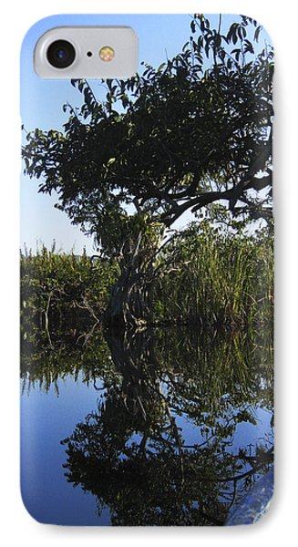 IPhone Case featuring the photograph Reflection Of Arched Branches by Anne Mott
