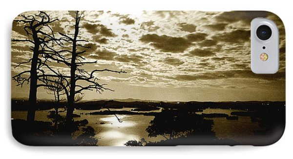 IPhone Case featuring the photograph Reflection Of Moonlight On Squam by Rick Frost