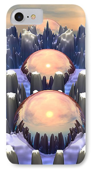 Reflection Of Three Spheres IPhone Case by Phil Perkins