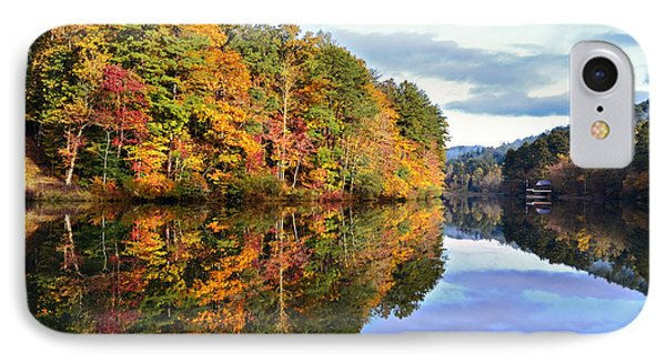 Reflections Of Autumn Phone Case by Susan Leggett