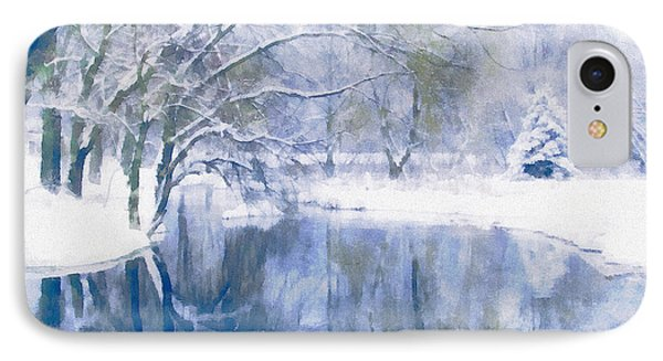 Reflections Of Winter IPhone Case by Georgiana Romanovna