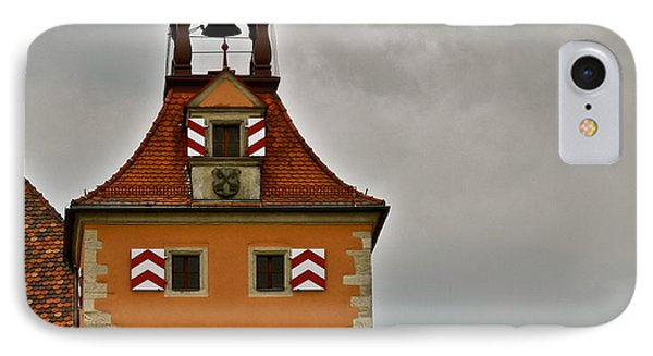 IPhone Case featuring the photograph Regensburg Clock Tower by Kirsten Giving