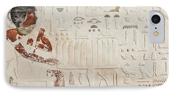 Relief Of Ka-aper With Offerings - Old Kingdom IPhone Case by Egyptian fourth Dynasty