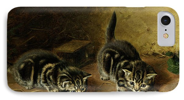 Reluctant Playmate IPhone Case by Horatio Henry Couldery
