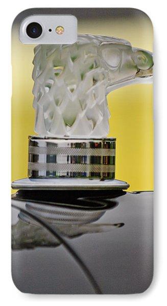 Rene Lalique Glass Eagles Head Hood Ornament IPhone Case by Jill Reger
