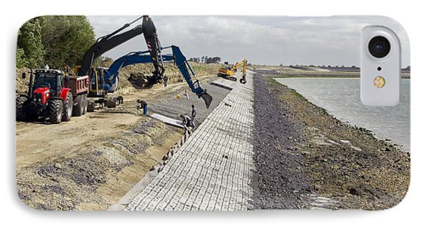 Renewing Shore Defences, Netherlands Phone Case by Colin Cuthbert