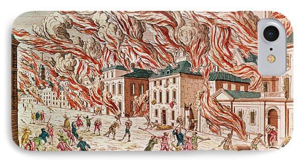 Representation Of The Terrible Fire Of New York IPhone Case