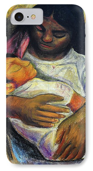 Reproduction Of Diego Rivera's- Mother And Child Phone Case by Duwayne Washington