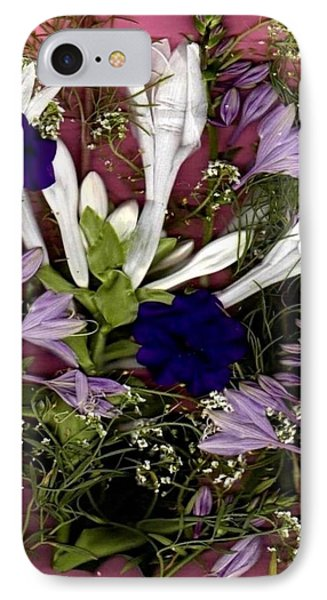 IPhone Case featuring the mixed media Restful Flowers For You by Ray Tapajna