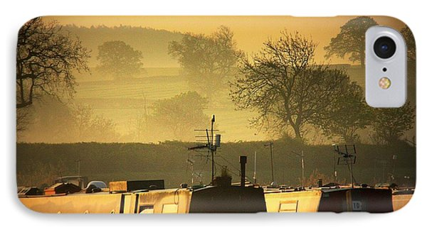 Resting Narrowboats IPhone Case by Linsey Williams