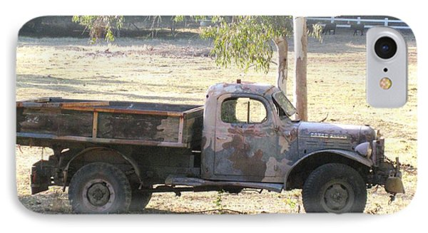 IPhone Case featuring the photograph Retired Power Wagon by Sue Halstenberg