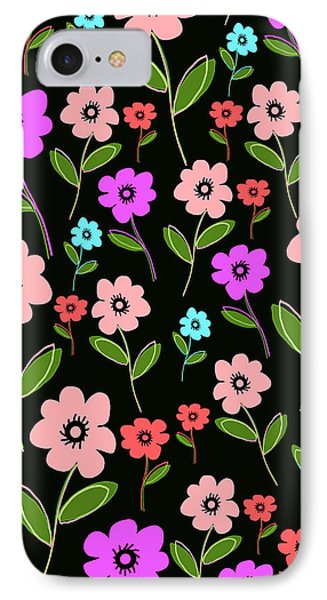 Retro Florals Phone Case by Louisa Knight