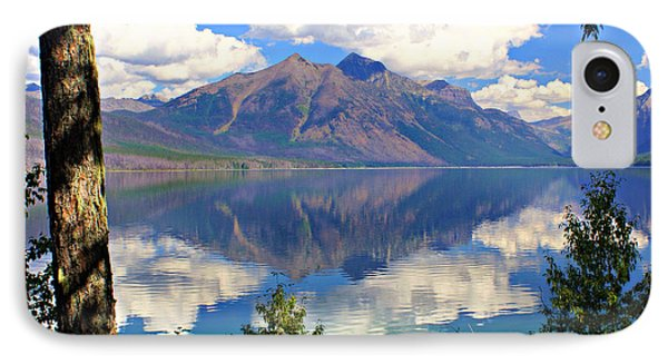 Rflection On Lake Mcdonald Phone Case by Marty Koch