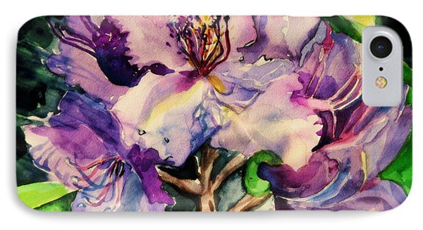 Rhododendron Violet IPhone Case by Mindy Newman