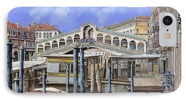 Rialto Dal Lato Opposto IPhone Case by Guido Borelli