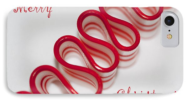Ribbon Candy Peppermint Merry Christmas Phone Case by Kathy Clark