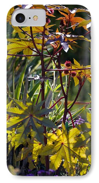 Ricinus Communis 'gibsonii' Phone Case by Dr Keith Wheeler