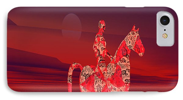 Riding At Dusk Phone Case by Matthew Lacey