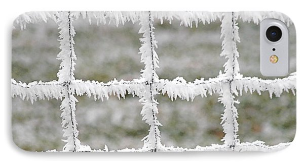 Rime Covered Fence Phone Case by Christine Till