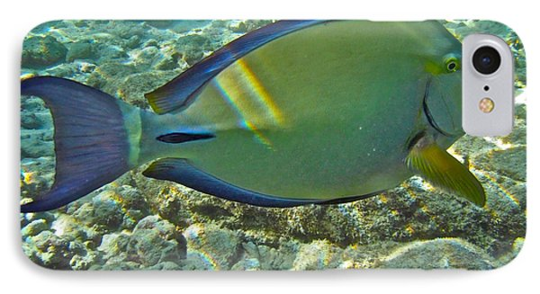 Ringtail Surgeonfish Phone Case by Michael Peychich